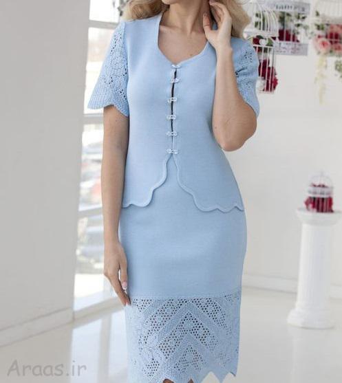 مدل کت سارافون مجلسی جدید / کت و دامن شیک