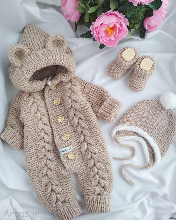 مدل لباس بافت نوزادی شیک