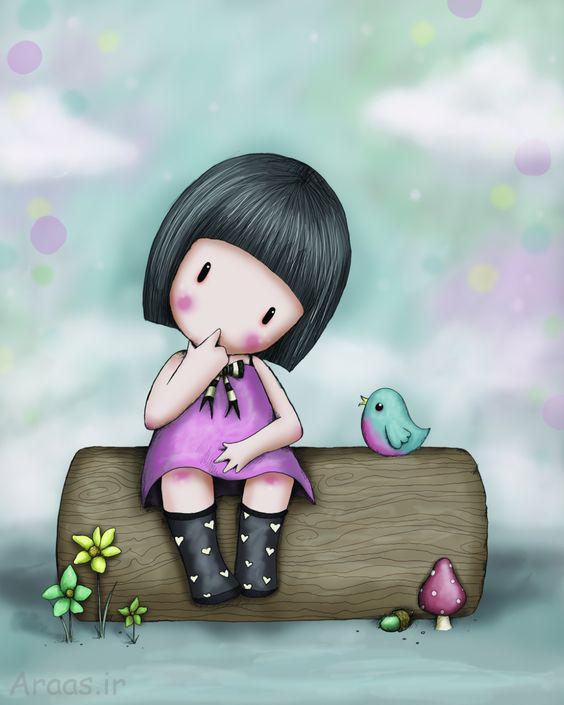 عکس پروفایل نقاشی دخترونه