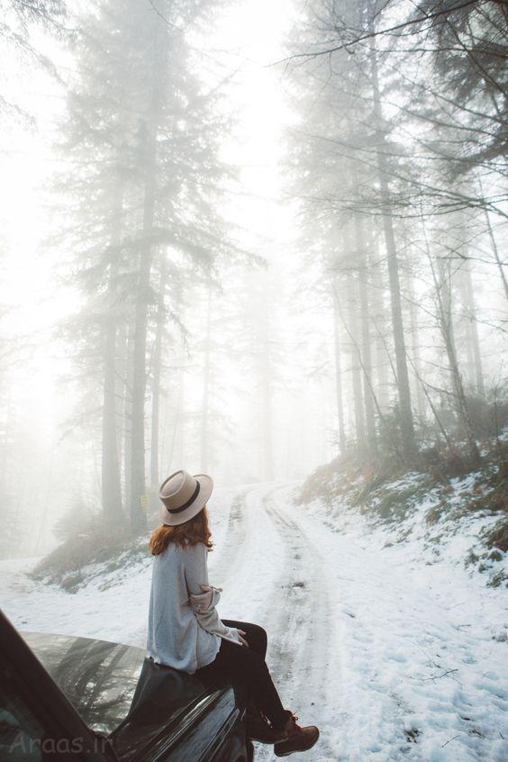 عکس پروفایل دخترونه در برف