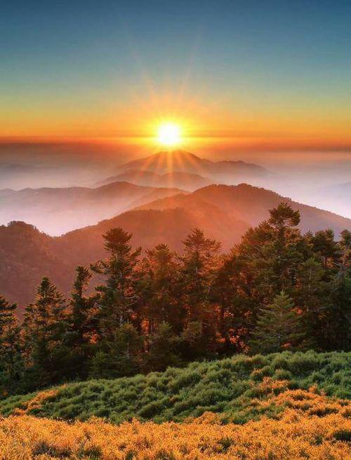 عکس غروب خورشید