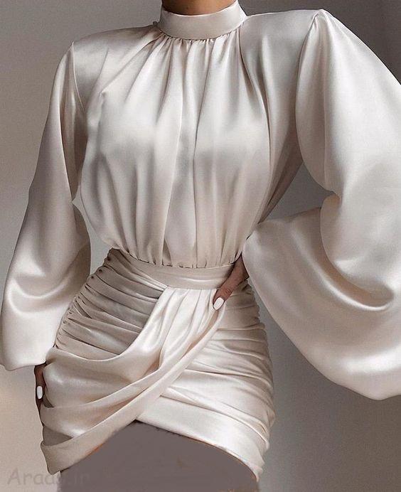 مجموعه تصاویر زیبا از لباس مجلسی جذب کوتاه تن خور شیک