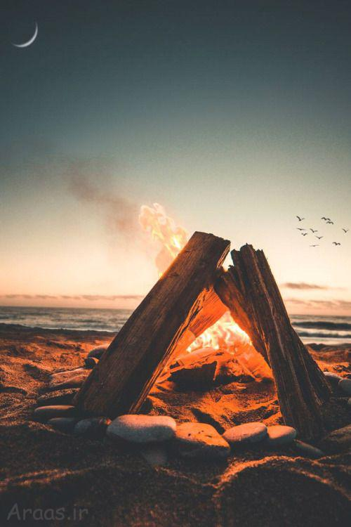 عکس پروفایل آتش