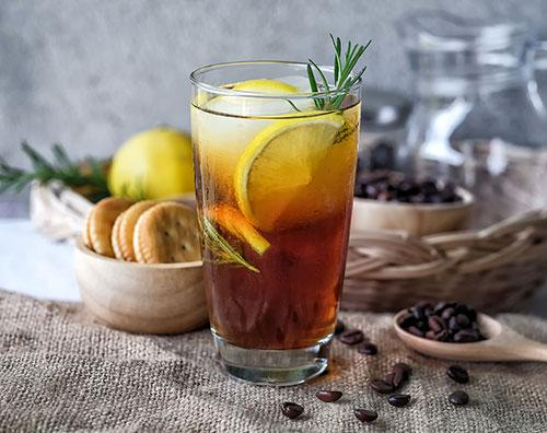 نوشیدنی لیمو و قهوه خنک